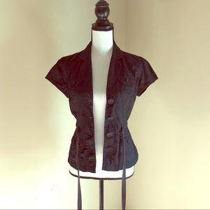 LOFT | Black Short Sleeve Blouse | Size XSmall